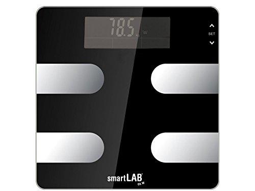 SmartLab Fit W - Báscula Digital de análisis Corporal, con Bluetooth, báscula de Grasa Corporal para medir Peso, calorías, Agua, Masa Muscular, Huesos |Báscula para Android, Apple iOS, iPhone, App