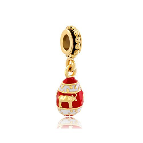 christmas-gift-light-red-easter-faberge-egg-with-cute-bull-animal-dangle-golden-spacer-bead-charm-by