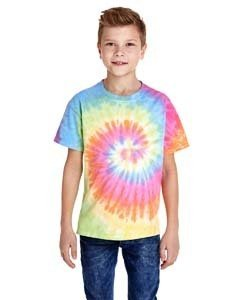 Youth 5.4 oz., 100% Cotton Tie-Dyed T-Shirt ETERNITY M (T-shirt Youth Dyed Cotton)