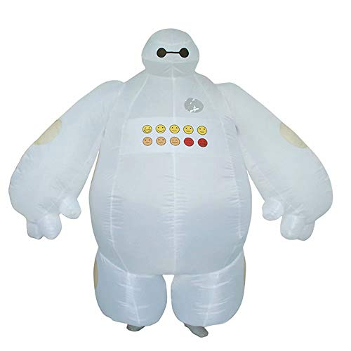Cosplay Baymax Kostüm - RenKeAi Erwachsene Lustige Baymax Aufblasbare Kostüm Superheld Baymax Party Cosplay Kostüm für Männer Frauen Unisex Maskottchen Kleid Insgesamt - 160-190 cm höhe (mit Luftgebläse ● - ●)