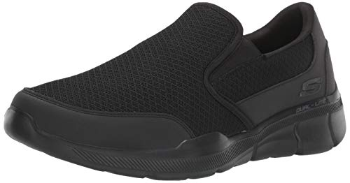 Skechers Men's Equalizer 3.0 Slip On Trainers, Black Black Mesh/Pu/Trim Bbk, 9 UK 43 EU