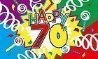 BRAND NEW 5ftx 3ft HAPPY 70th BIRTHDAY FLAG BANNER DECORATION