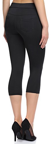 Merry Style Damen Leggings 127-SP Schwarz