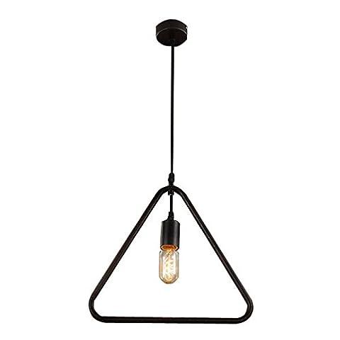 Hahaemall Industrial Fixture Retro Pendant 1 Light Ceiling Lamp Chandelier
