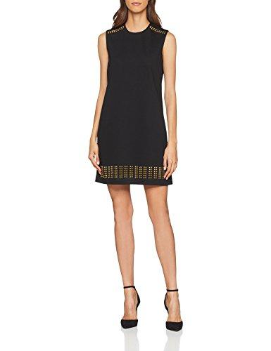 Versace Jeans Damen Kleid Lady Dress, Schwarz (Nero E899), 40 (Herstellergröße: 46)