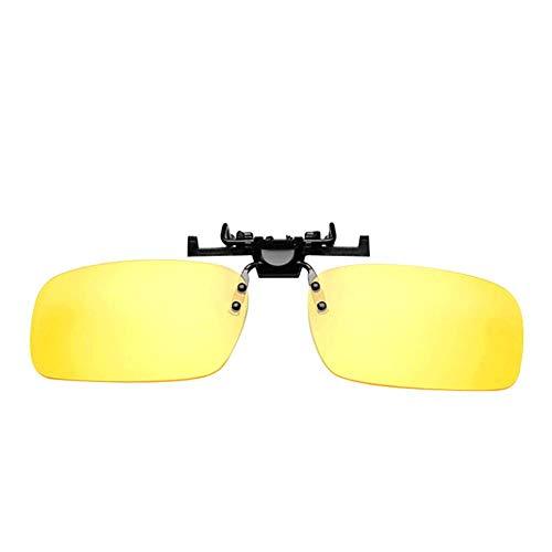 Unisex Sonnenbrille Nachtsicht Nicht polarisiert Linsen Blendschutz,Clip on Polarisiert Clip polarisierte Sonnenbrille Flip up Sonnenbrille Clip Gegen Licht für Frauen und Männer Unisex Brillenträger