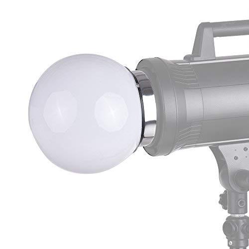 Bowens Monolights (Docooler 7-Zoll-Kugel Diffusor Ball Monolight Speedlite Blitz Bounce Fotografie mit Bowens S-Typ Halterung für Studio Beleuchtung Flash)