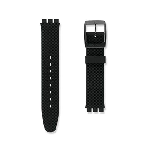 Cinturino in silicone nero orologio Swatch Black Effect Irony Big AYGB4007 17 mm
