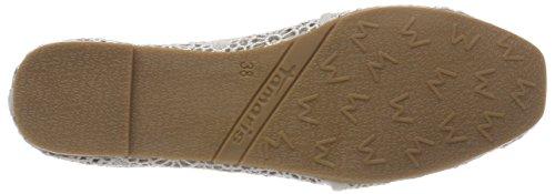 Tamaris Damen 24668 Slipper Grau (Grey Macramee)