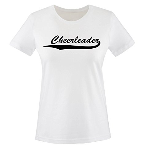 CHEERLEADER - Weiss - WOMEN T-SHIRT by DoubleM Gr. L (Designs T-shirt Cheerleader)