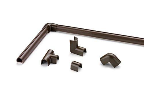 Cablefix Inofix selbstklebender flexibler Kabelkanal & Verbindungen (4 Stück 8 x 7 x 1000 mm, Braun)