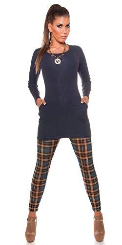 In-Stylefashion - Sweat-shirt - Femme bleu bleu foncé L/XL bleu foncé