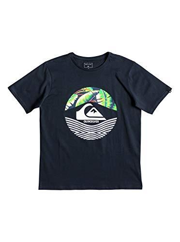 Quiksilver Jungen Stomped On T-Shirt, Blue Nights, M/12 - Quiksilver-jungen Kleidung