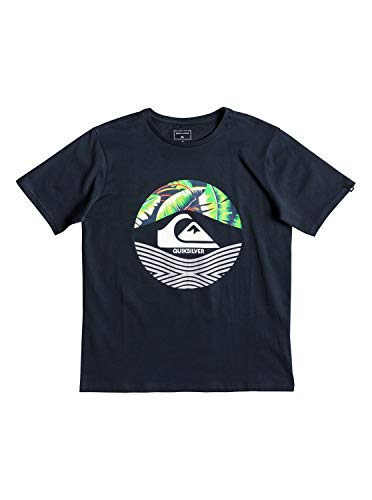 Quiksilver Jungen Stomped On T-Shirt, Blue Nights, M/12 -