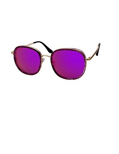 Große Rahmen-reflektierende Sonnenbrille-starke weibliche runde Gesichts-Sonnenbrille-Pers5onlichkeit-Anzug-Gläser ( Farbe : 2 )