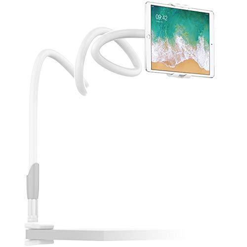 EasyAcc 360 Drehen Handyhalter Tablet Ständer Schwanenhals Halterung Smartphones Halter Tablet Halterung Handy Einer Länge von 1 Meter Für Smartphones iphone xs max xr Galaxy S9 Plus Ipads (Weiß / Grau)