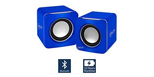 ARCTIC S111 - Tragbare Lautsprecher mit USB Anschluss, Mini Speaker mit überzeugender Klangqualität für Desktop-PC oder Laptop, bis zu 12h Akkulaufzeit, kraftvolle Bässe und kompaktes Design - Blau