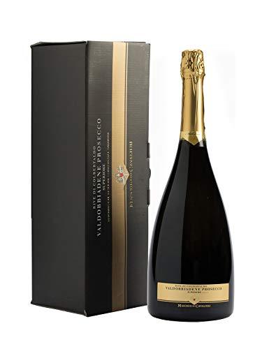 Rive di colbertaldo valdobbiadene prosecco superiore docg brut - cantine maschio - vino bianco spumante 2016 - bottiglia 1,5 lt