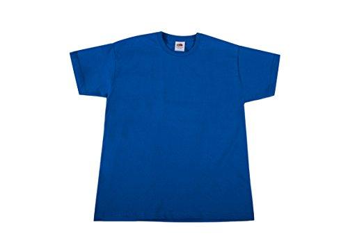 Fruit of the Loom Jungen T-Shirt Valueweight T Kids, Blau (Blue 51), 128 (Herstellergröße: 8Y)