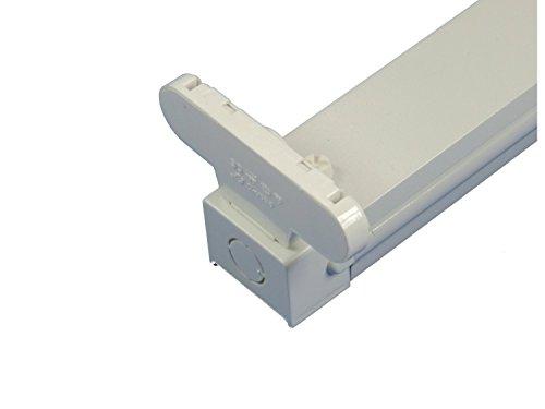 V-TAC 6055 Halter Fassung für 2 Stück LED 120 cm zum Gebrauch mit Leuchtröhren