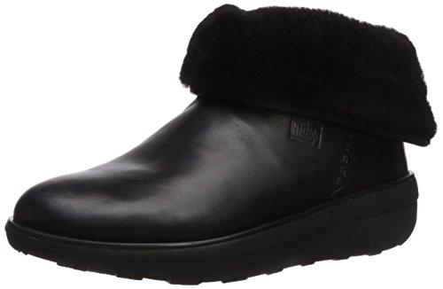 Mukluk-stiefel (FitFlop Damen Mukluk Shorty 2 Boots Klassische Stiefel, Black (Leather Black), 38 EU)