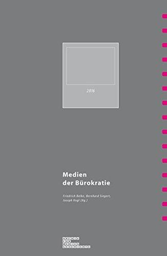 Medien der Bürokratie: 2016 (Archiv für Mediengeschichte)