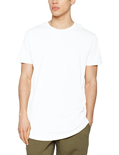 Urban Classics Herren T-Shirt Shaped Long Tee, Weiß (White), TB638, XL