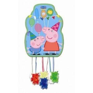 Peppa Pig - Piñata perfil, 33x46 cm para cumpleaños y celebraci