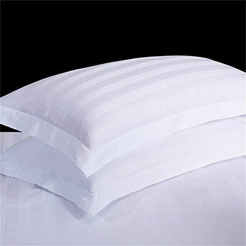 Pushp Linen Oxford Funda de Almohada de algodón Egipcio algodón de 400 Hilos, algodón Egipcio, Blanco...