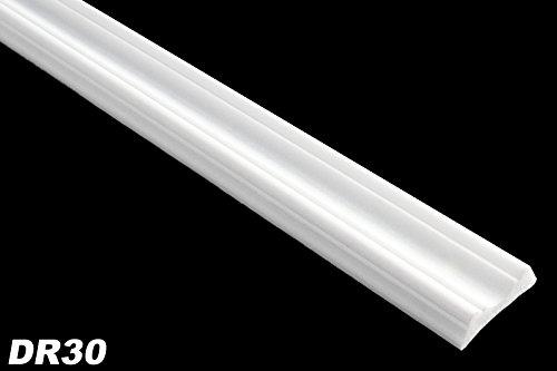 10 Meter Flachleisten Dekorleisten Wandprofile Stuckleisten hart 30x9mm, DR30