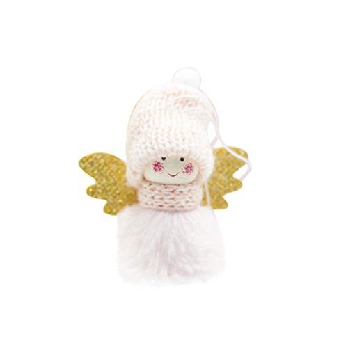 vijtian Mini-Weihnachtsbaum-Anhänger, niedlich, Plüsch, Engel, Mädchen, Weihnachtsbaum, Dekoration für Weihnachten Rose