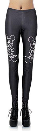 THENICE élastique extensible pour femme imprimé collants leggings pour femme galaxy clair - Q