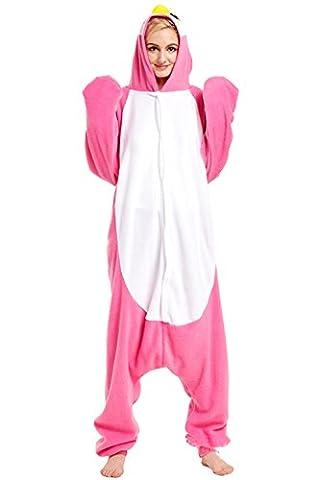 Honeystore Unisex Pinguin Kostüm Erwachsene Tier Jumpsuits Onesie Pyjamas Nachthemd Nachtwäsche Cosplay Overall Hausanzug Fastnachtskostüm Karnevalskostüme Faschingskostüm Kapuzenkostüm (Einfache Gruppe Kostüm-ideen Für Erwachsene)
