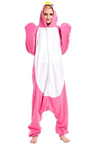 Honeystore Unisex Pinguin Kostüm Erwachsene Tier Jumpsuits Onesie Pyjamas Nachthemd Nachtwäsche Cosplay Overall Hausanzug Fastnachtskostüm Karnevalskostüme Faschingskostüm Kapuzenkostüm (Fred Kostüm Bilder Feuerstein)