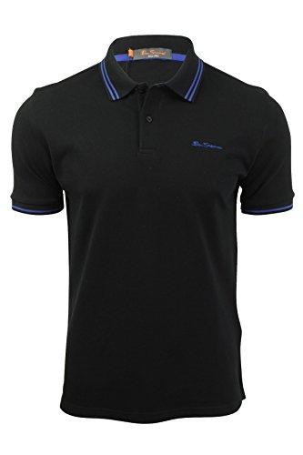 Ben Sherman Herren Poloshirt, Einfarbig blau blau Gr. XL, schwarz