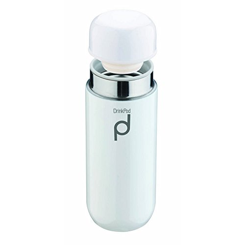 Pioneer Thermos isotherme anti-fuite Drinkpod 8 heures chaudes 24 heures froides, Acier inoxydable, blanc, 200 ml