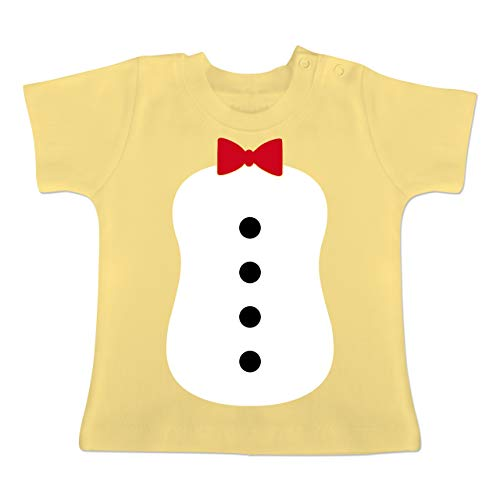Monate 18 Kostüm Pinguin - Karneval und Fasching Baby - Pinguin Karneval Kostüm - 12-18 Monate - Hellgelb - BZ02 - Baby T-Shirt Kurzarm