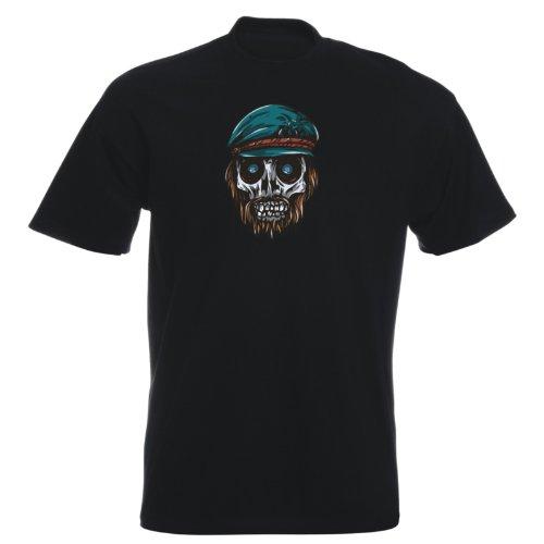 T-Shirt - Buddy Skull 36 - Totenkopf - Herren Schwarz