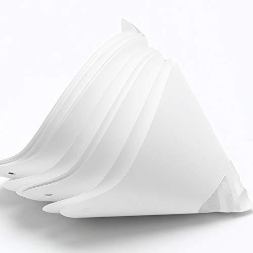 Filtro, 10 piezas de accesorios blancos, papel desechable, impresora 3D, impresión de fotografía, embudo de resina grueso, consumible, blanco