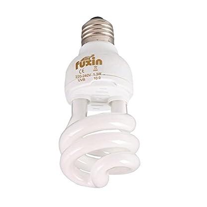 Hankyky UV Heat Lamp, UVA Reptile Basking Spot UVB 10.0 E27 220-240V 13W Glass Bulb 3