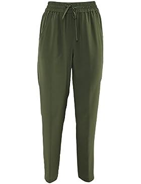 Aspesi Mujer H114B75305392 Verde Seda Pantalón