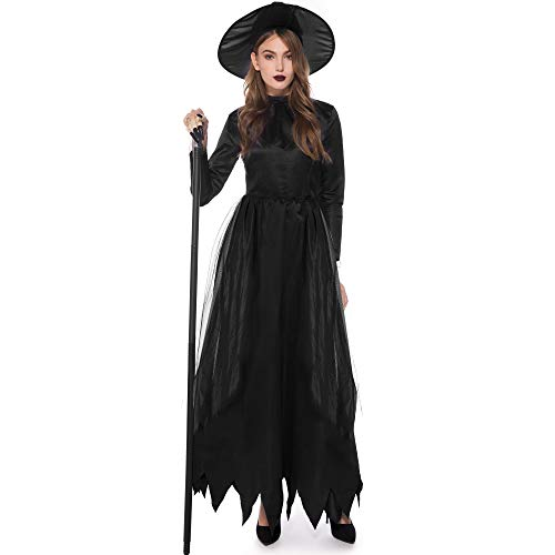 Kostüm Lady Death - TTWL Halloween Hexe Kostüm Death Womens M-XL Cosplay Kostüm Bühnenauftritt L