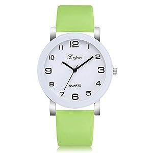 HunYUN Damen-Armbanduhr, Quarzuhrwerk, analog, Quarzuhrwerk, individuelles Geschenk, Mädchen, grün, Free Size