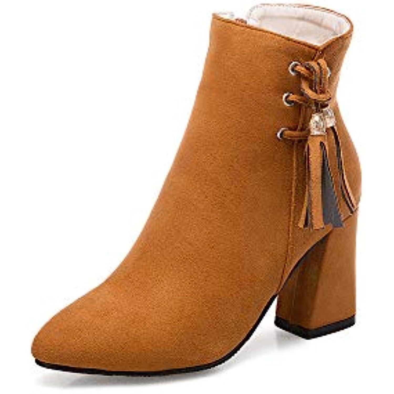 Centre Commercial de Chaussures Femmes Bottines à Talons Femmes, Femmes, Femmes, Talons épais, Bottes Courtes, Bout Pointu, Plateforme... - B07JP7CWBL - d9c36f