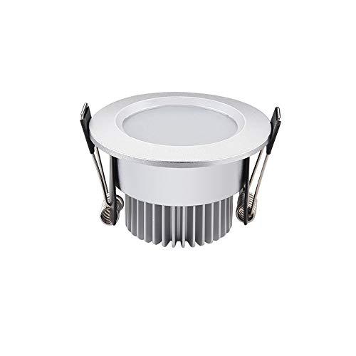 Ic-einbauleuchte (GLBS 3W/5W/7W/9W/12W Sand Silber Runde Eingebettete LED-Einbauleuchte Smart IC Haushalt Gewerbliche Innendekoration Energiesparende Deckenverkleidungsleuchte Beleuchtung Blendschutzstrahler)