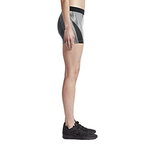 Nike Damen Pro Hyper Cool Frequency Short Thermo Damenshorts Schwarz/Dunkelgrau/Weiß