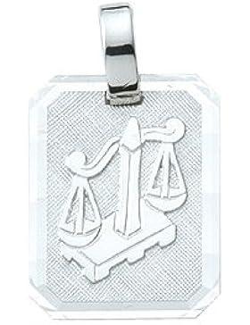 Silber 925 Sterling Silver Sternzeichen Anhänger - Waage - B. 12 mm - H. 14,9 mm