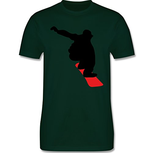 Wintersport - Snowboard Abfahrt - Herren Premium T-Shirt Dunkelgrün