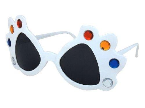 Sonnenbrille Funbrille Partybrille Spaßbrille Diskobrille Karneval viele Modelle, Brille wählen:F-014 Maske weiß