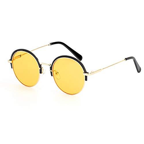 FYrainbow Sonnenbrille, runde Sonnenbrille ist am besten für den Angeln Golf Outdoor-Reisen Shopping Damen Night Vision UV400,A
